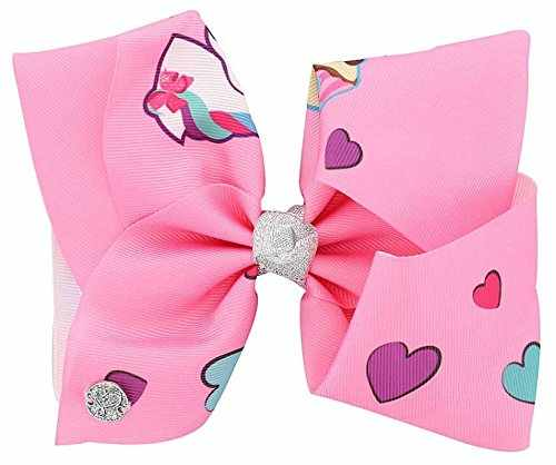 JoJo Siwa Bow AuthenticBow Clip On White Rainbow Love Large