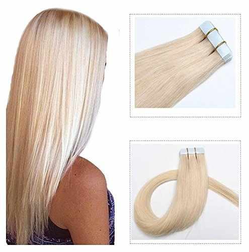 7a4cfa128fc Mario Hair Tape In Human Hair Extensions Silky Straight Skin Weft ...