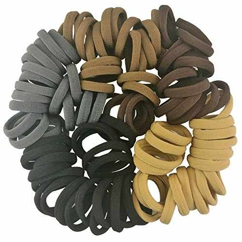 Hair Ties Neutral for Thick Hair 100 PCS Seamless No Damage No Slip Ponytail  Holders Hair Bands for Women Men c782d4aec1d