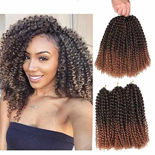 Refined Hair 12inch 24strands 6packslot Ombre Malibob Jerry Curly